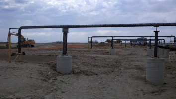 bakken Compressor Pipeing and pads